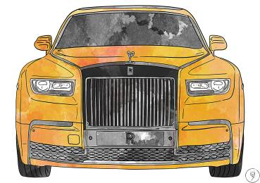 rolls royce orange
