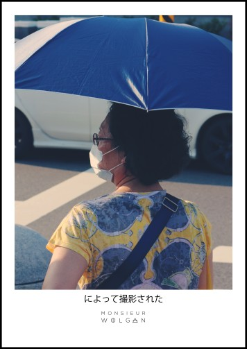 women & blue
